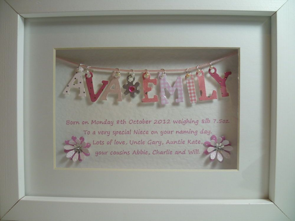 Personalised 3d box frame crafty ideas pinterest 3d box gift negle Image collections