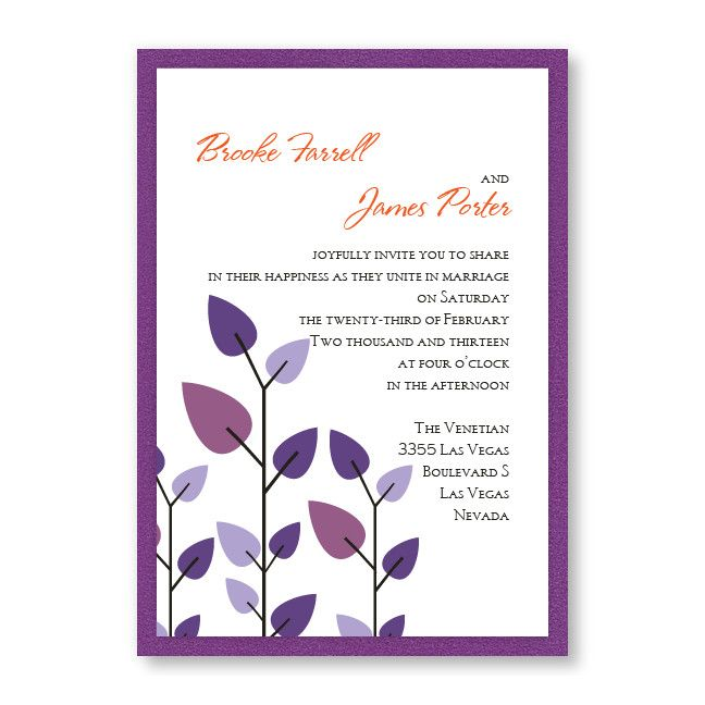 Leaves of Love Wedding Invitations