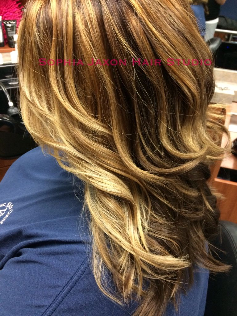 Brown To A Soften Golden Hue Balayage Created By Jamie B