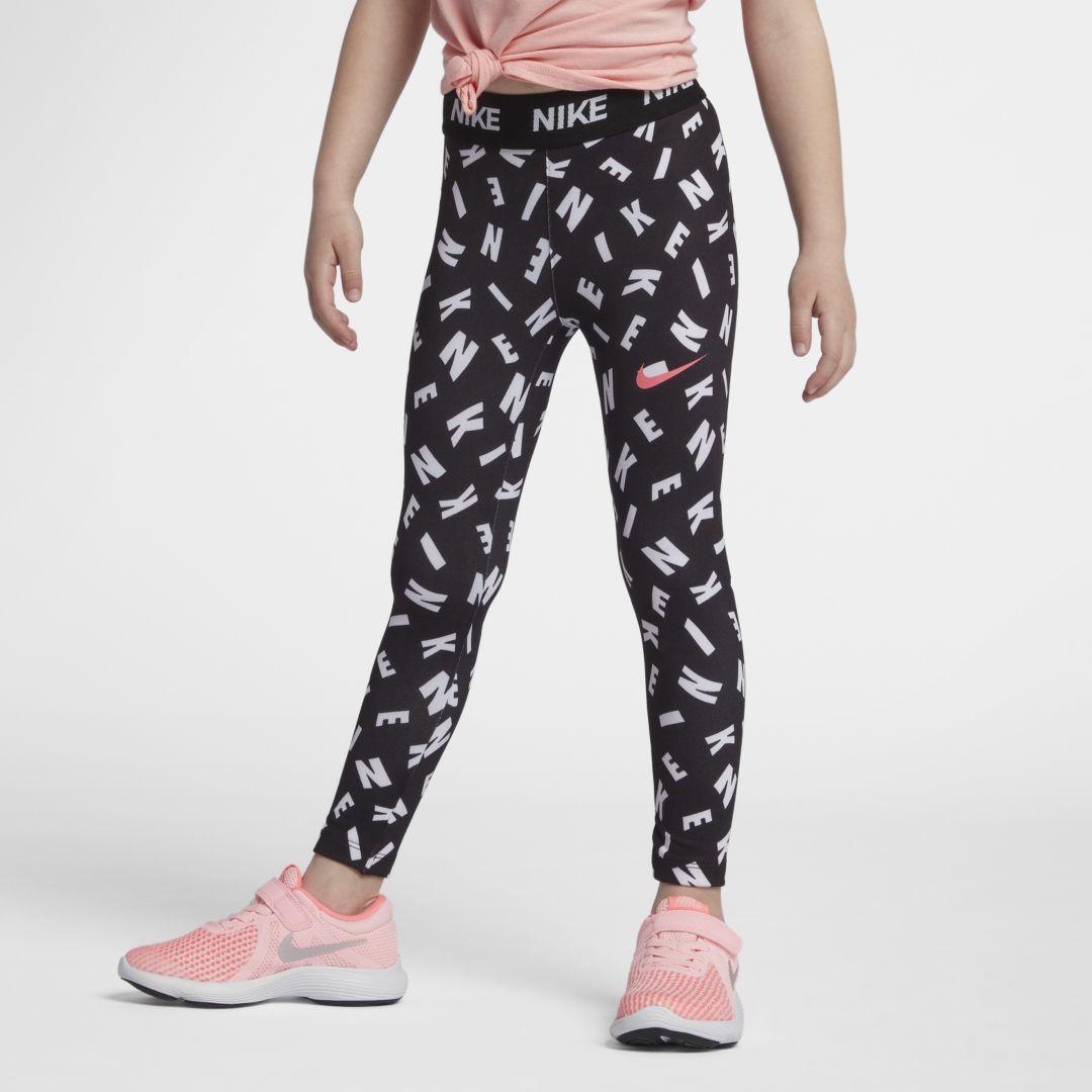 93ed879ec Nike Dri-FIT Sport Essentials Little Kids' (Girls') Printed Leggings Size 4  (Black)