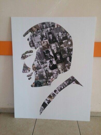 Atatürk Kolaj çalışması Ilkokul Etkinlikleri Primary School