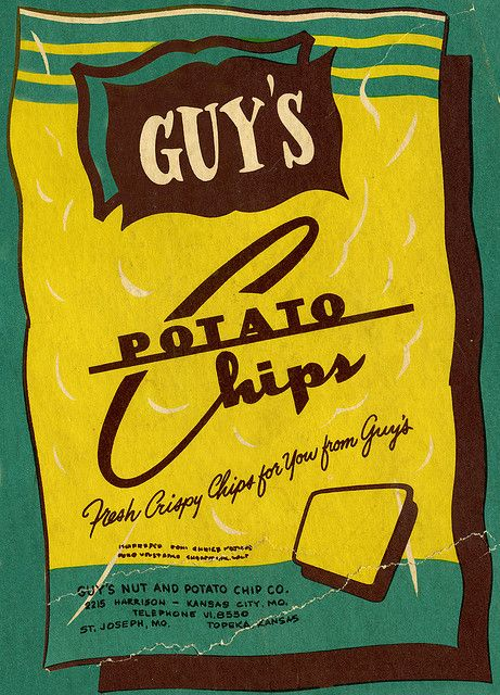 Guy's Potato Chips bag illustration - isolated and cleaned ...
