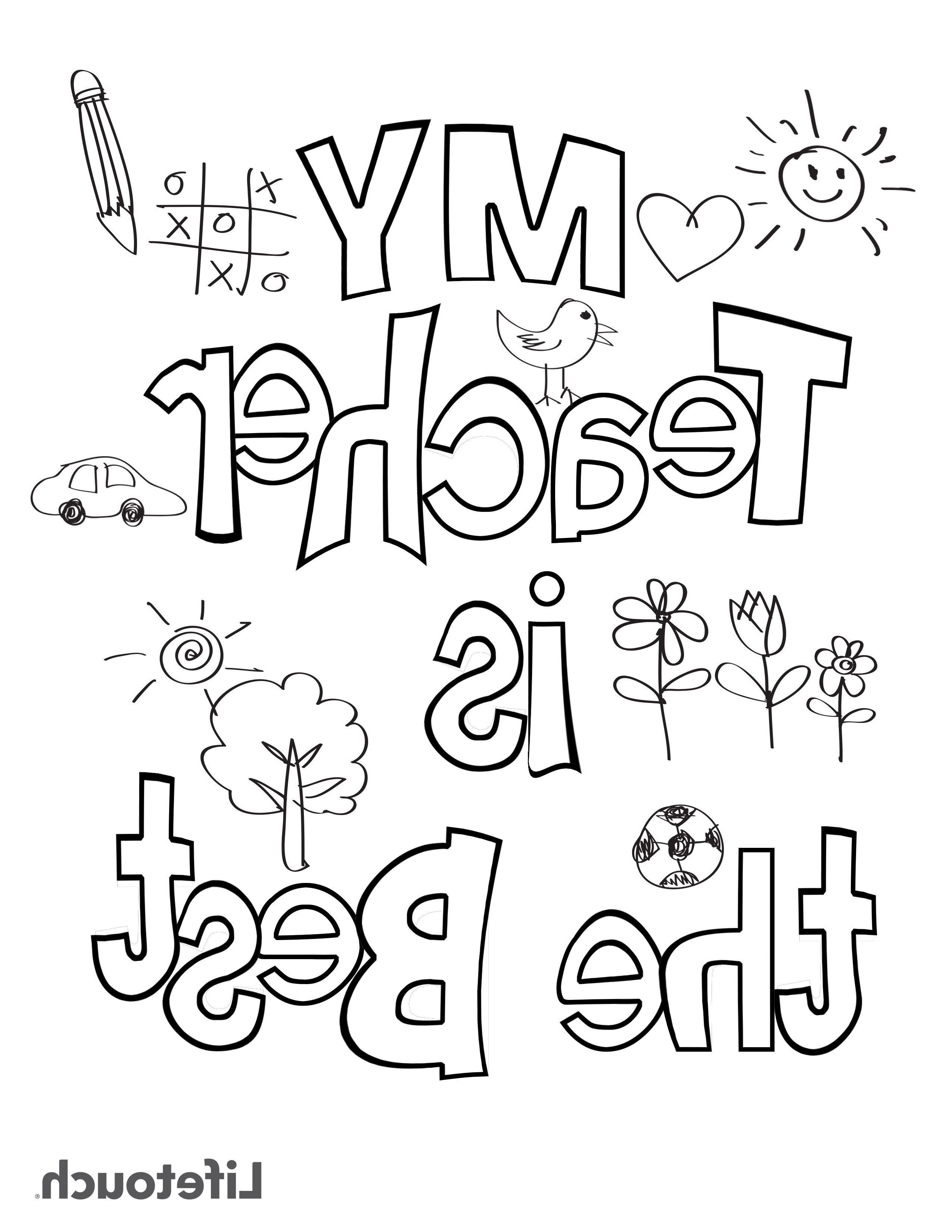 printable coloring birthday cards for teachers