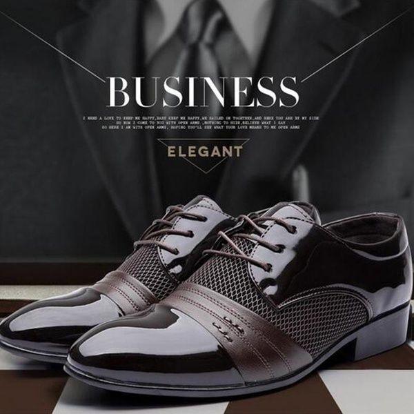 Mens Fashion Classical Shoes Men Dress Flat Shoes Luxury
