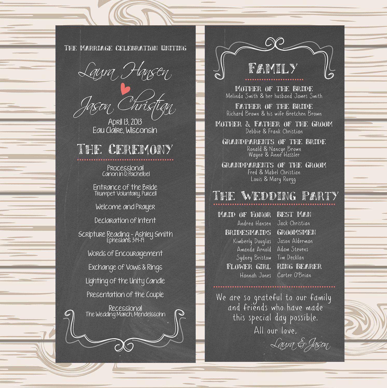 downloadable wedding programs