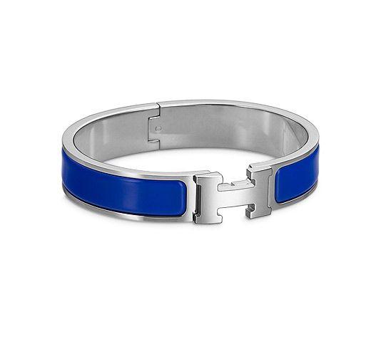 8a078dd0e7 COVET: Hermes Enamel Clic H Bracelet in Royal Blue in 2019 ...