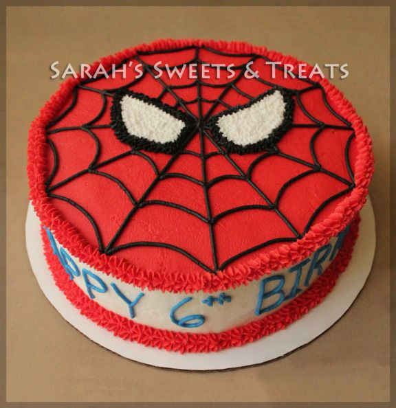 Spiderman Cake & Cupcakes | Kids party | Buttercream ...