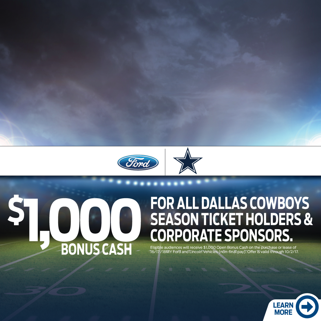 Ford The Dallas Cowboys Have Teamed Up To Provide Season Ticket