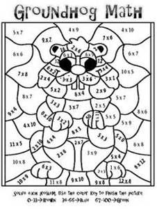 Multiplication Coloring Worksheets 4th Grade Mosaic Coloring Pages For Math Coloring Groundhog Day Activities Groundhog Day