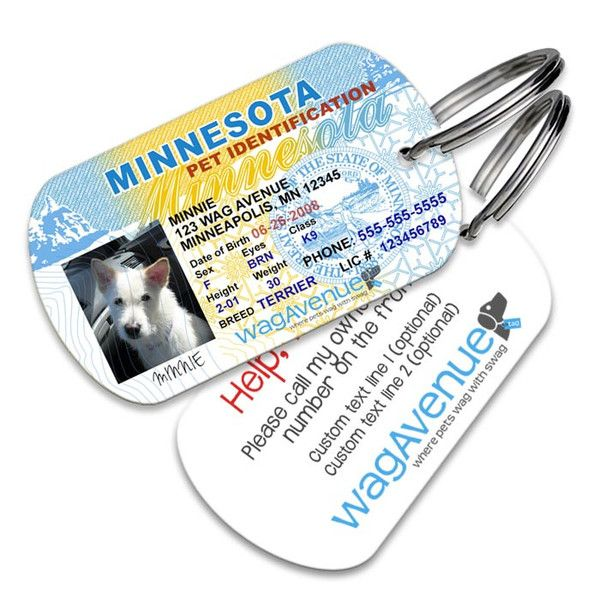 Minnesota Driver's License Pet Tag #dogtags #dogaccessories #dogfashion #doglover #doggift #dogs #puppy #pettag #driverslicense #petlicense #dognametag #doglicense #dogdriverslicense #minnesota #minnesotalicense