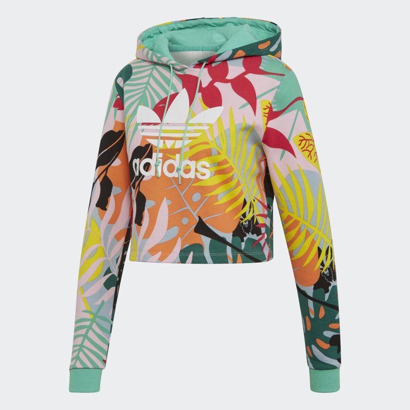 Microordenador Australia Obediente  Sudadera con capucha Cropped Tropicalage Multicolor FH7992 | Sudaderas con  capucha, Ropa deportiva mujer, Sudadera recortada