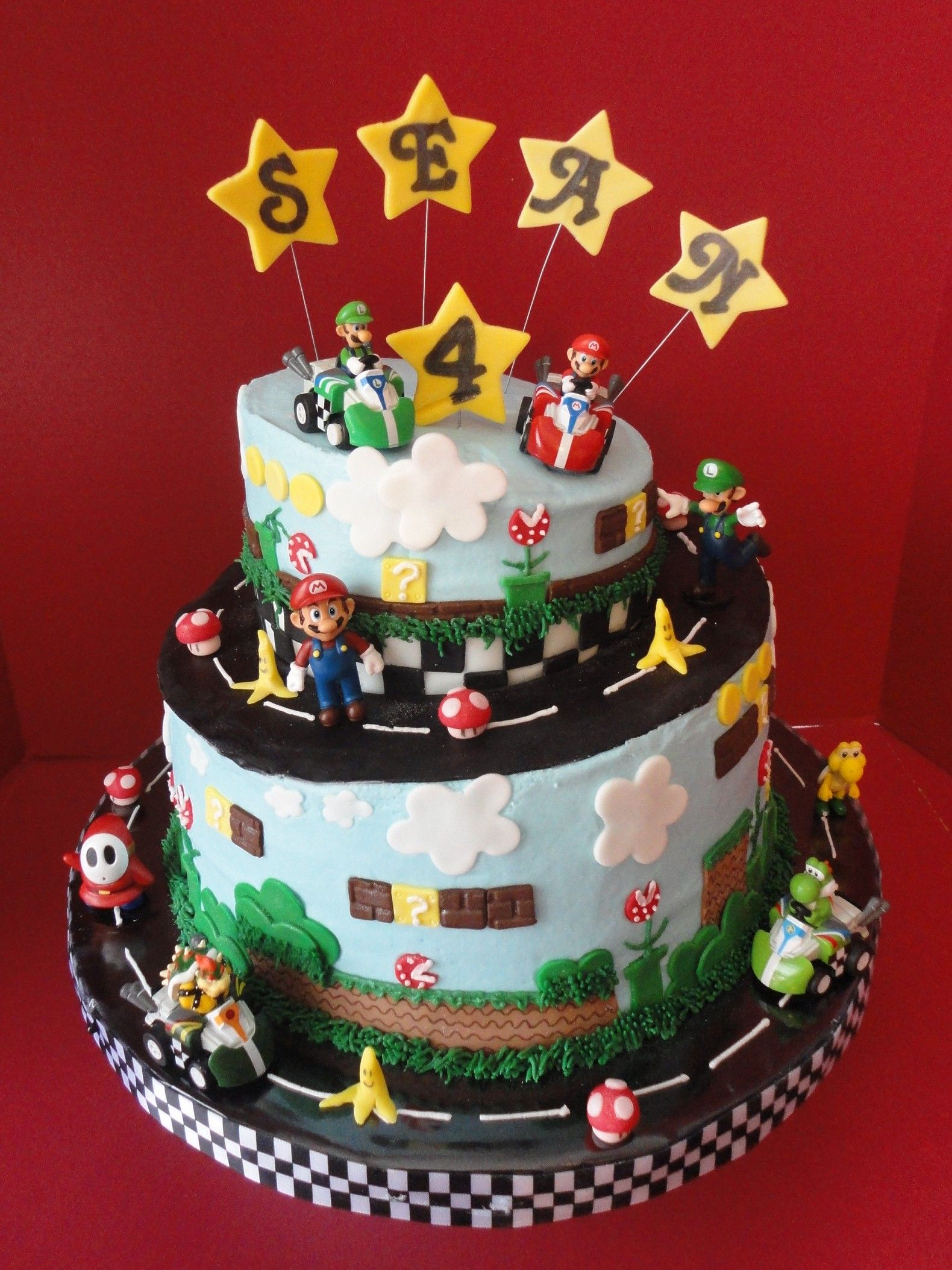 Mario Kart Birthday Cake Birthday party ideas Pinterest Mario
