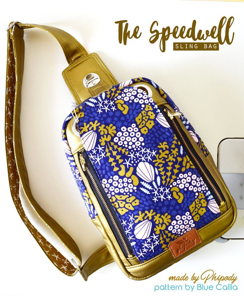 The Speedwell Sling Bag - PDF Sewing Pattern | Fashion Me | Pinterest