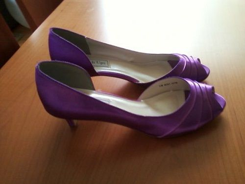 Lavender Low Heel Comfortable Shoes