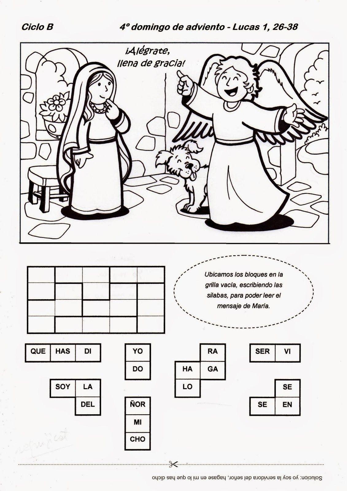 El Rincón de las Melli: 4º domingo de Adviento - CICLO B   religión ...