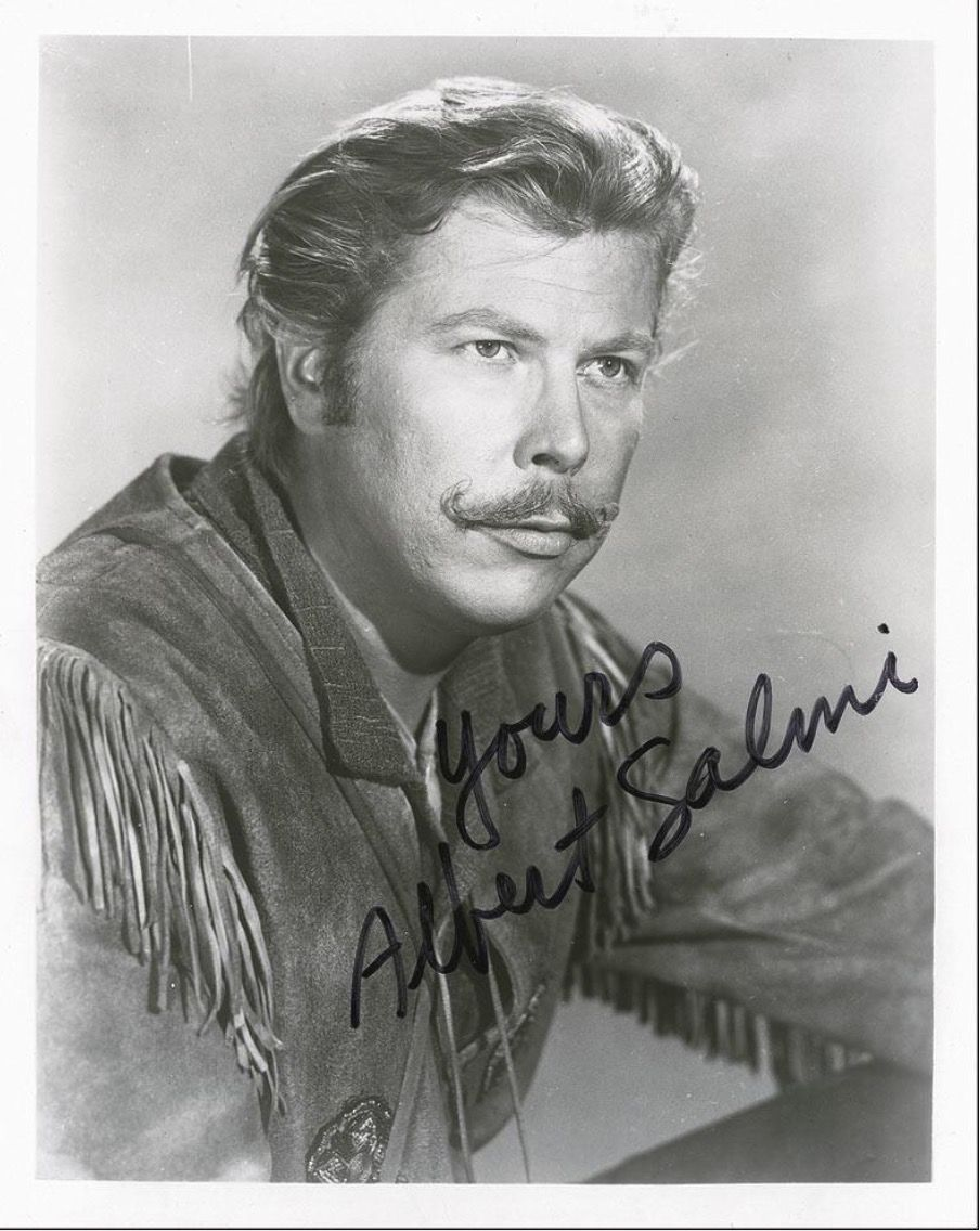 Perennial Baddie Albert Salmi When He Played Yadkin On Daniel Boone I Have This Photo Signed In My Collection Too Tv Westerns Tv Stars Daniel Boone