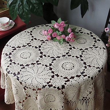 European Style Traditional Hollow Out Handmade Table Cloth – USD $ 19.99