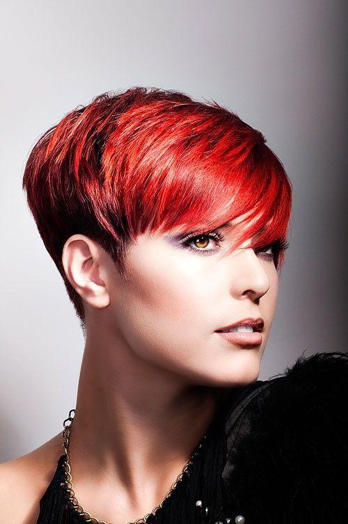 Frisuren kurz rot schwarz