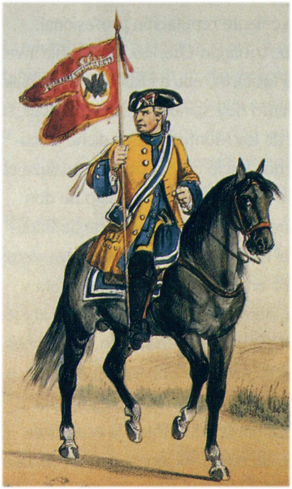 Numancia 1737 Dragones. Portaguión