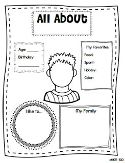 All About Me Pages and Freebie! Great for back to school