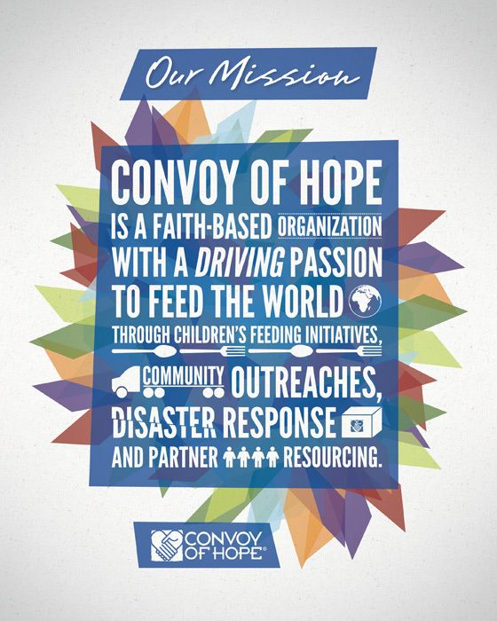 Convoy Of Hope Mission Statement By Josh Thomassen Via Behance Convoy Of Hope Mission Statement Disaster Response