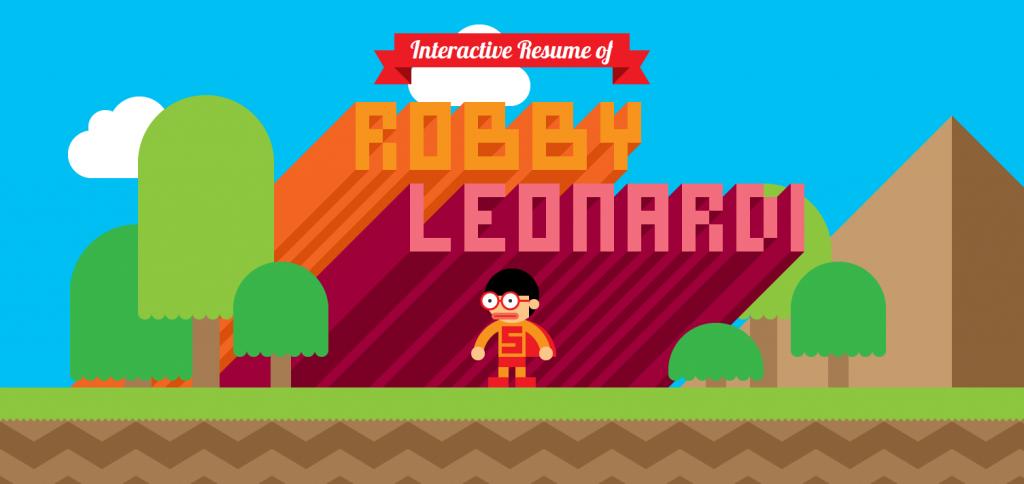 le CV façon jeu vidéo de Robby Leonardi