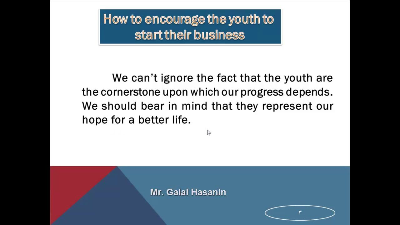 Paragraph About The Youth And Work براجراف عن الشباب والعمل With