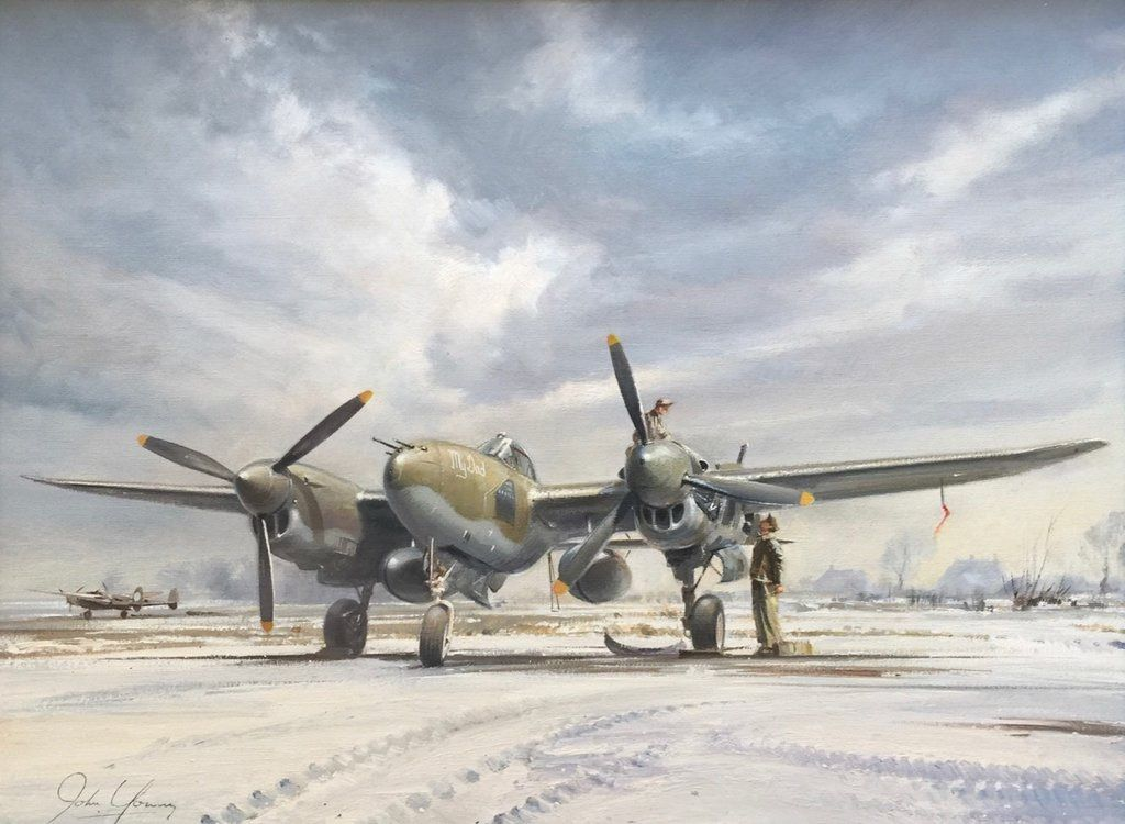 """/""""Number 20 for Joe/"""" Roy Grinnell Print signed by WW II Ace Captain Joe Foss"""