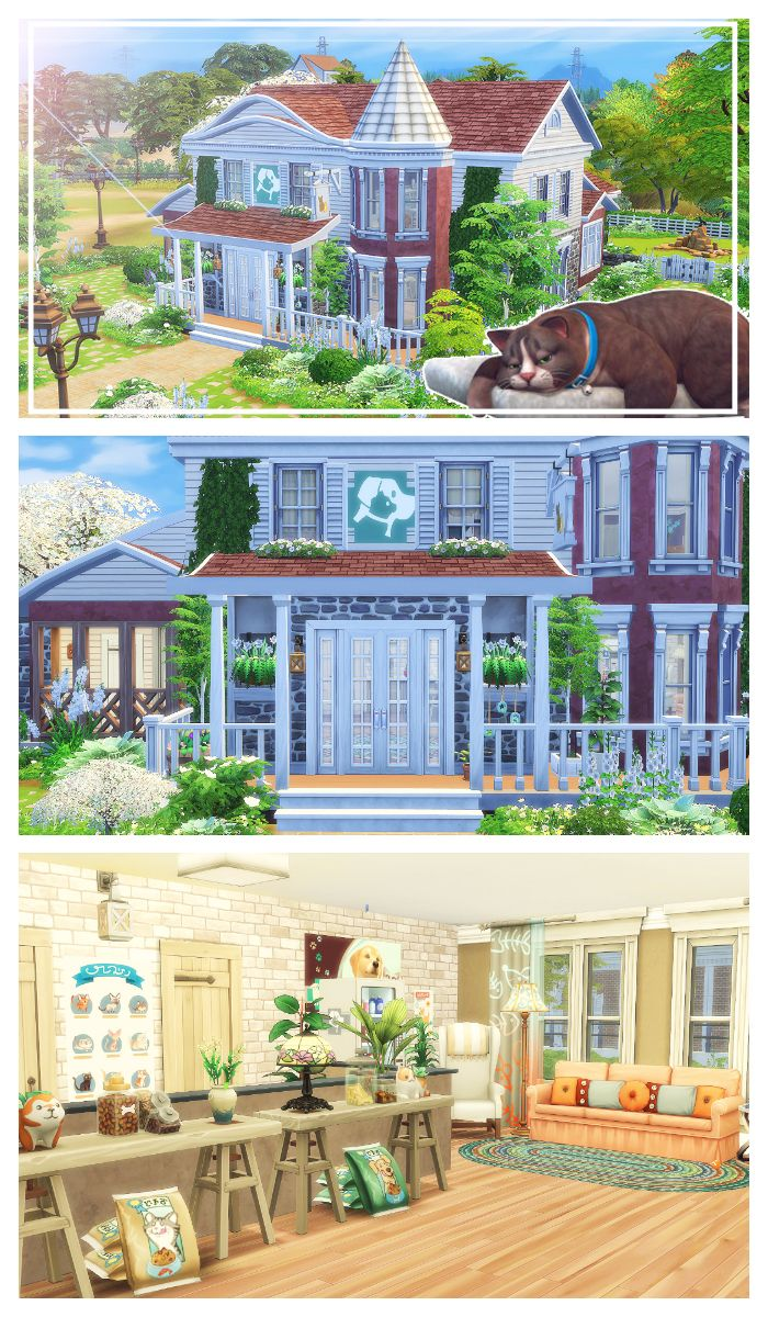 Sims 4 Cats Dogs Brindleton Pawspital Renovation Brindleton Bay Fixer Upper Sims 4 Houses Sims 4 Sims
