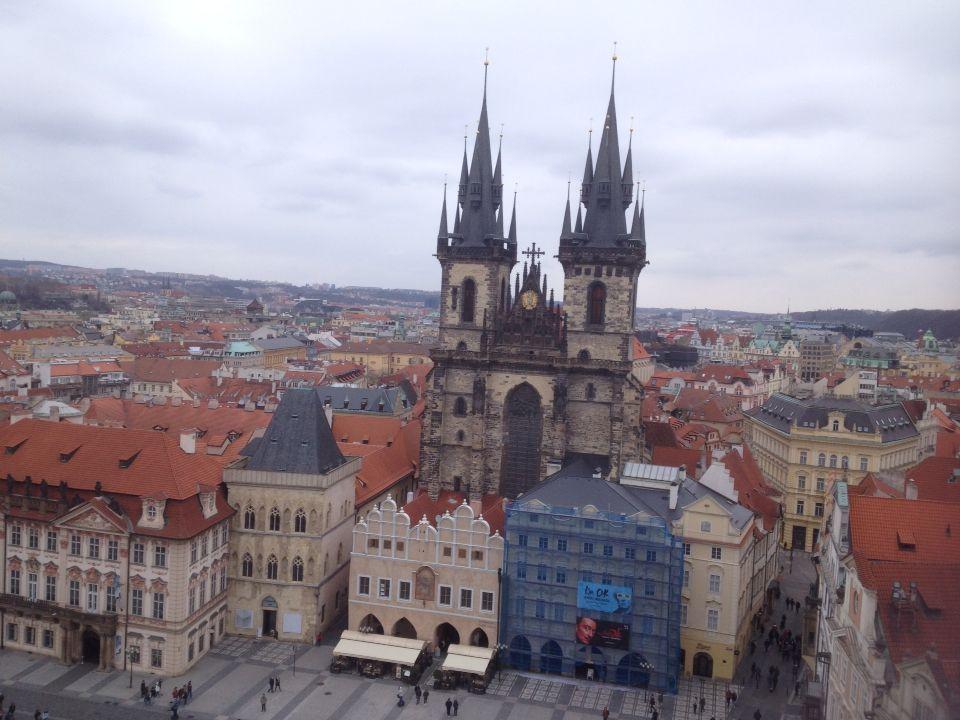 Vista dalla torre dell'orologio