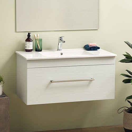 Cashmere 900 Single Drawer Wall Hung Silva Strata Rrp 1000 Bathroom Vanity Bathroom Vanity