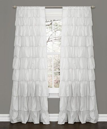 Take A Look At This White Ruffle Window Curtain Panel By