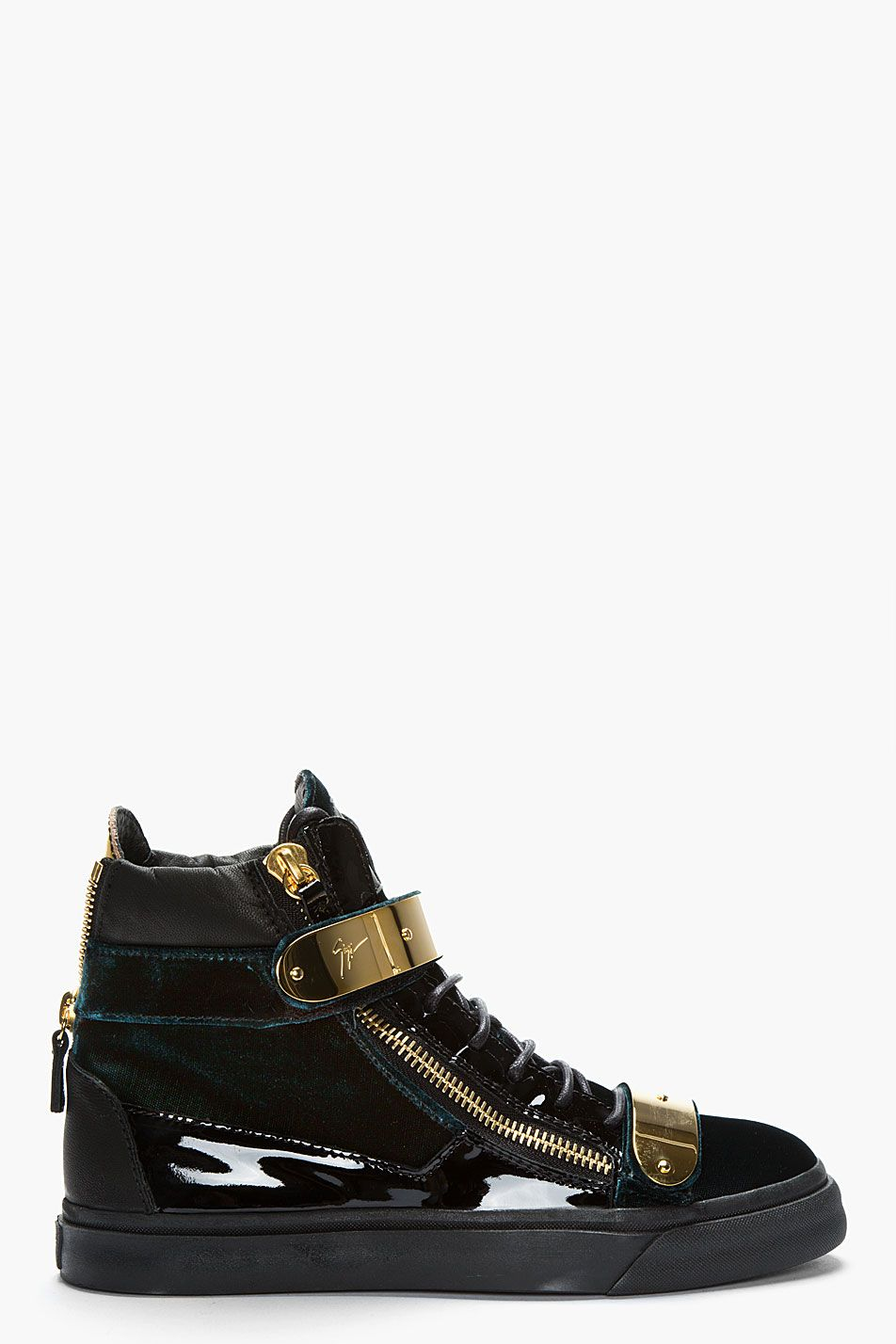 2f75263af92d2 Giuseppe Zanotti Ssense Exclusive Green Velvet Sneakers | Sneakers ...