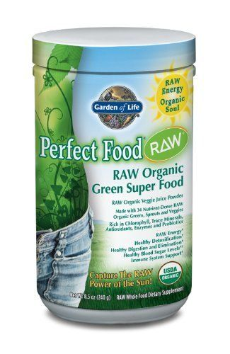Garden Of Life Perfect Food Raw Organic Powder Nutritional Supplement 240 Grams By Garden Of Life Http Www A Raw Organic Organic Greens Powder Perfect Food