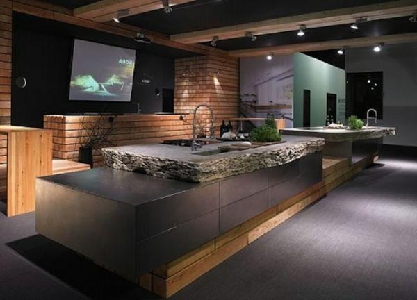 Arbeitsplatte Mit Betonoptik Kuchenarbeitsplatten Aus Beton