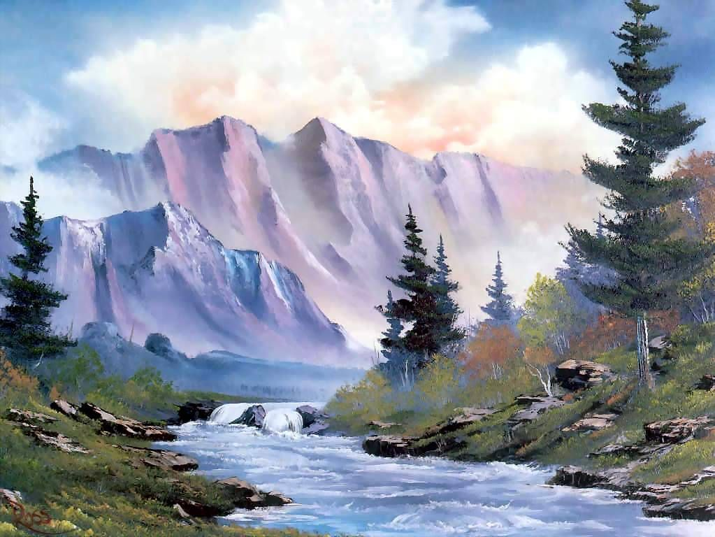 Bob Ross Paintings Arts Peintures Bob Ross Pinturas Et Pinturas