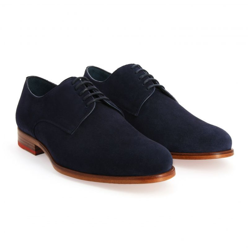 3f7827007c68c Derby en veau velours bleu marine - The Nines #shoes #derby #derbies  #derbybleumarine #derbyvelours
