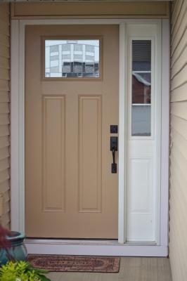 Therma Tru Benchmark Doors Emerson Craftsman Insulating Core 1 Lite Left Hand Inswing White