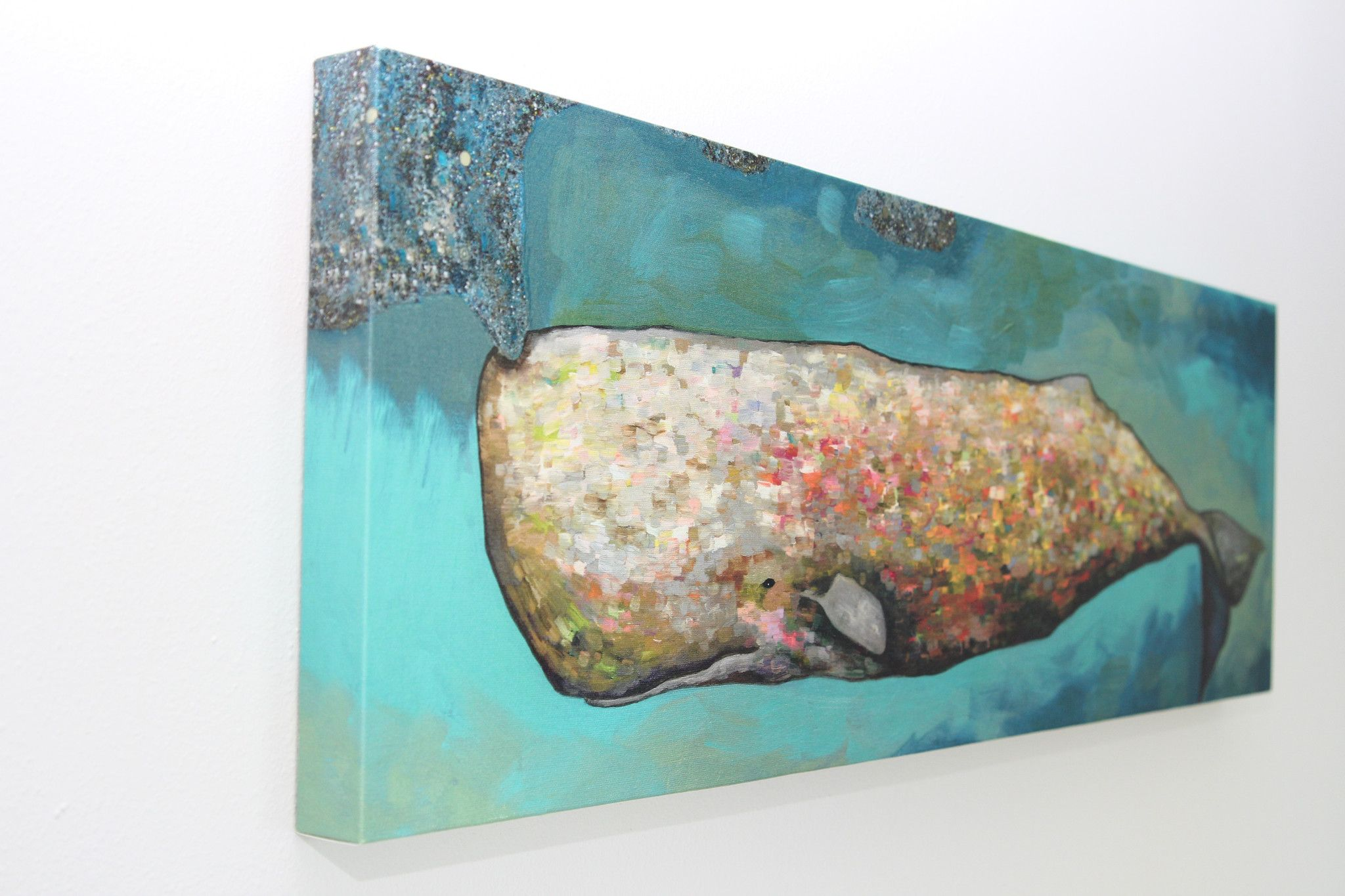 Whale in Seafoam - Giclée Print | Canvas Prints of my
