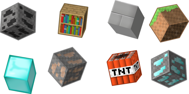 Minecraft Vector Blocks and Creeper The creeper
