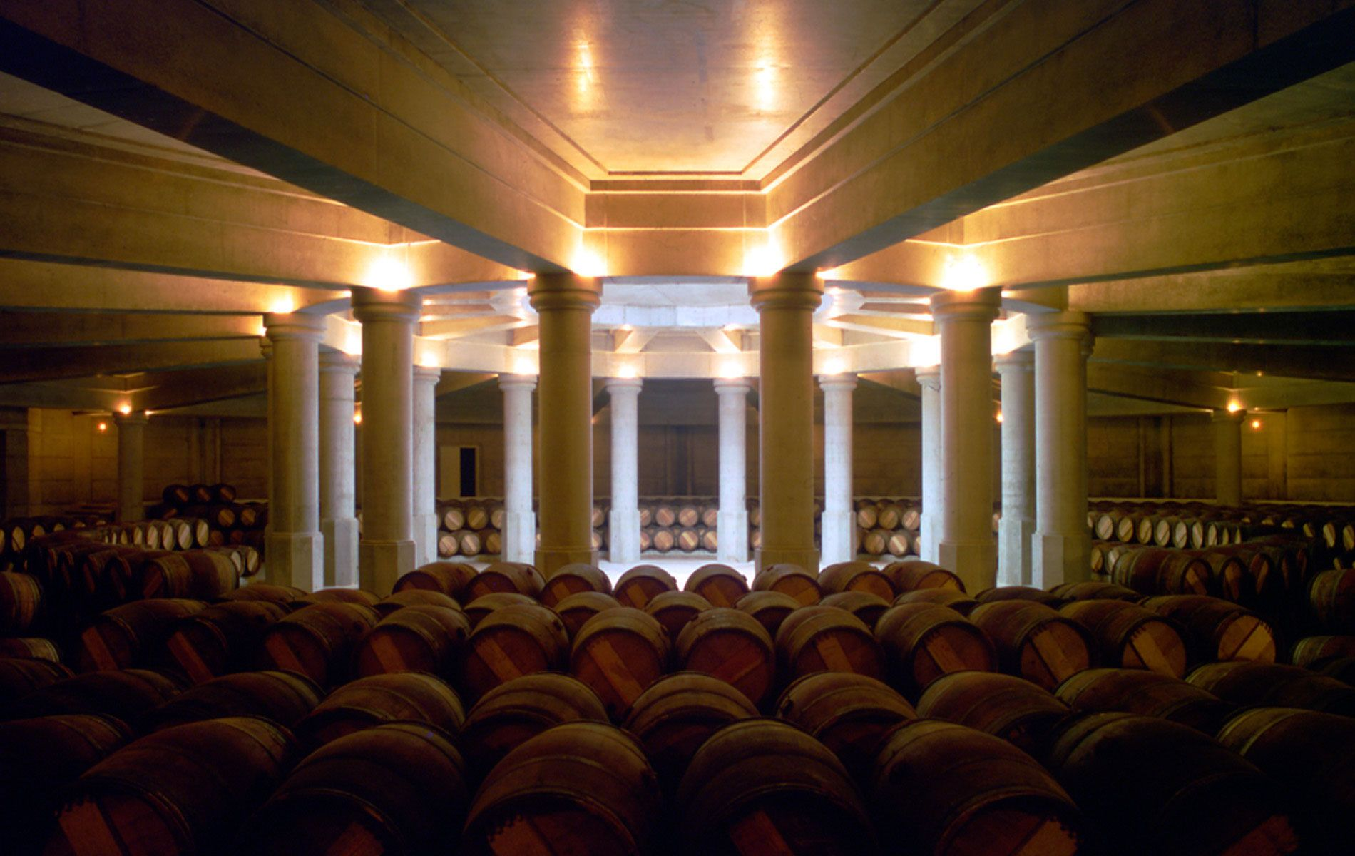 Château Lafitte-Rothschild Wine Cellars, 1988, Pauillac, Bordeaux, Ricardo Bofill Taller de Arquitectura