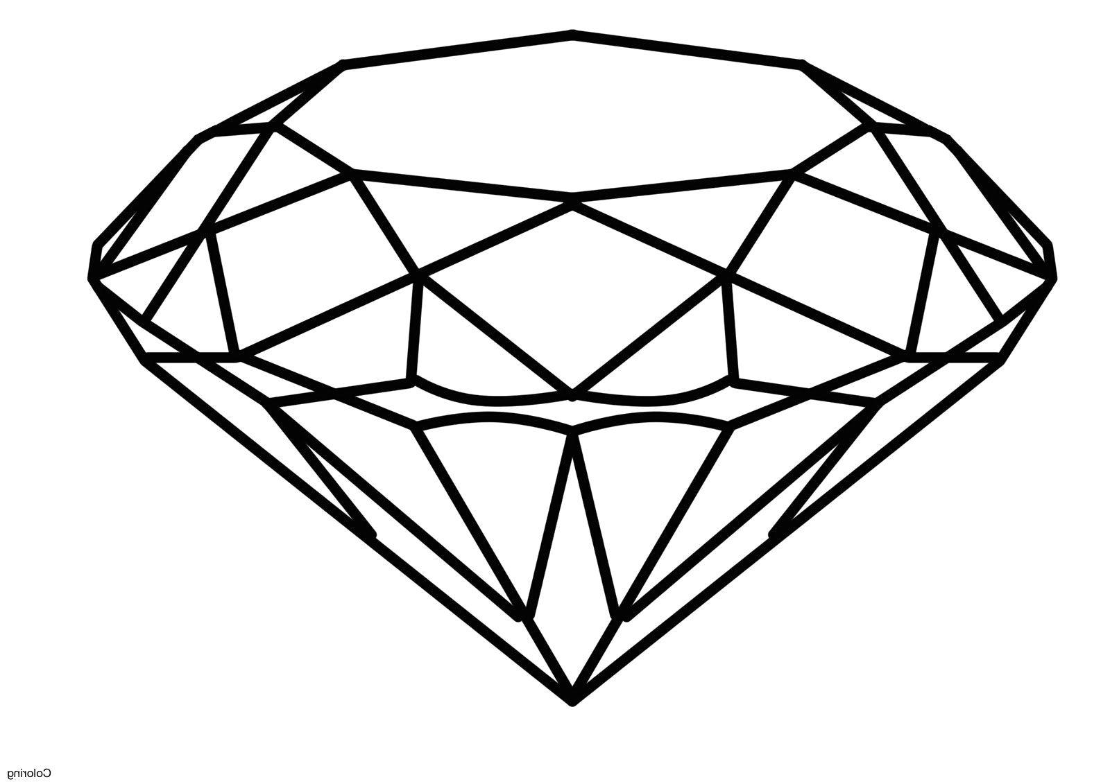 Diamond Coloring Pages Diamond Drawing Shape Coloring Pages Diamond Sketch