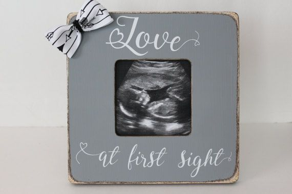 Love At First Sight Frame, Gender Reveal Picture Frame, Ultrasound ...