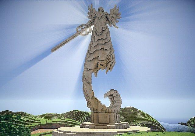 Minecraft Angel Statue Schematic Minecraft Projects