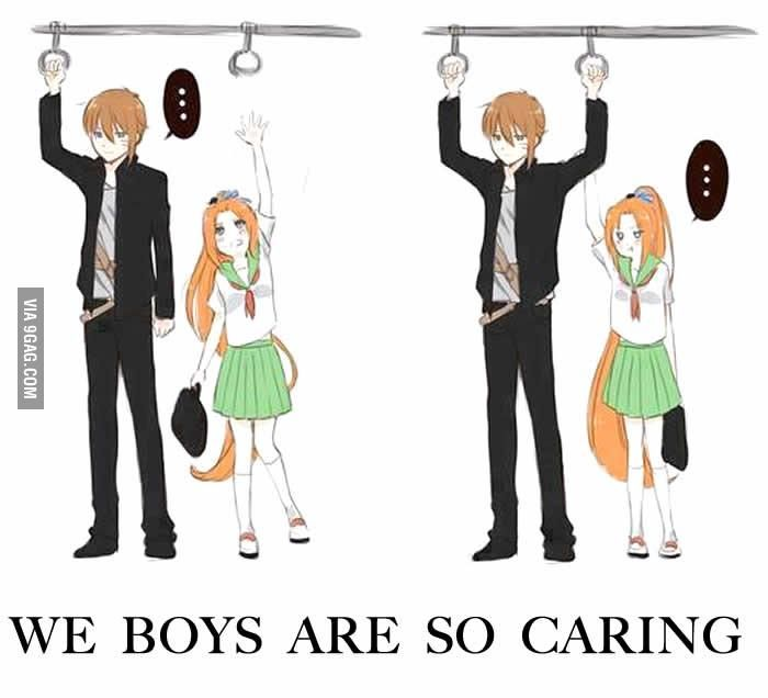 We Boys Are So Caring Anime Funny Tall Guys Short Girl Problems