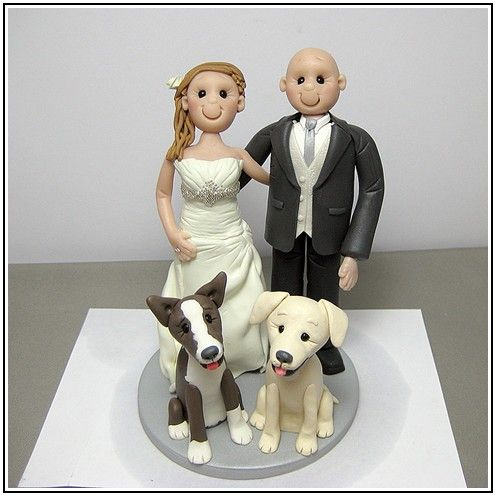 Wedding Cake Toppers With Dog