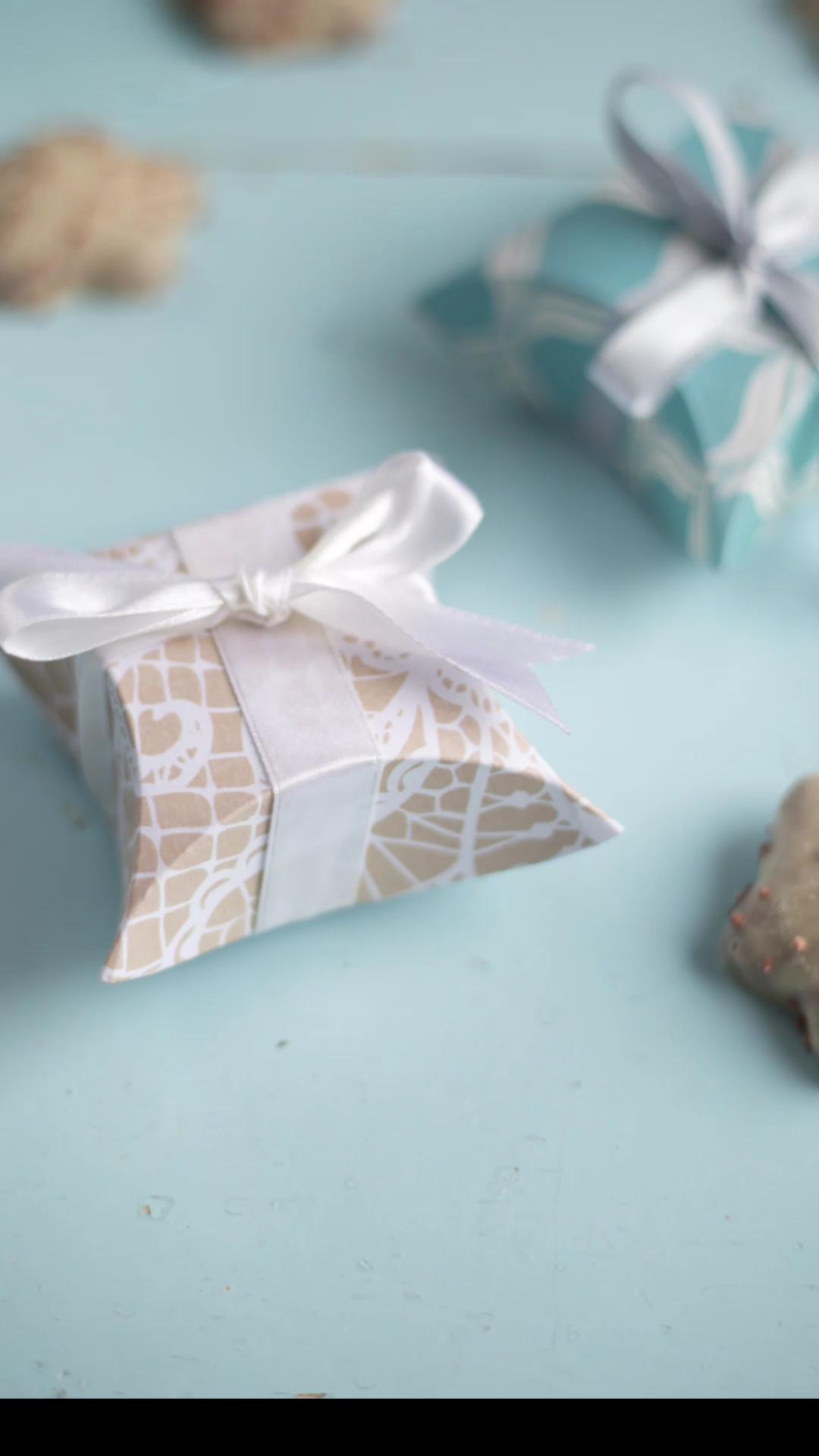 Kleine Geschenkschachtel falten - DIY Video Schachtel für kleine Geschenke  #fotogeschenk
