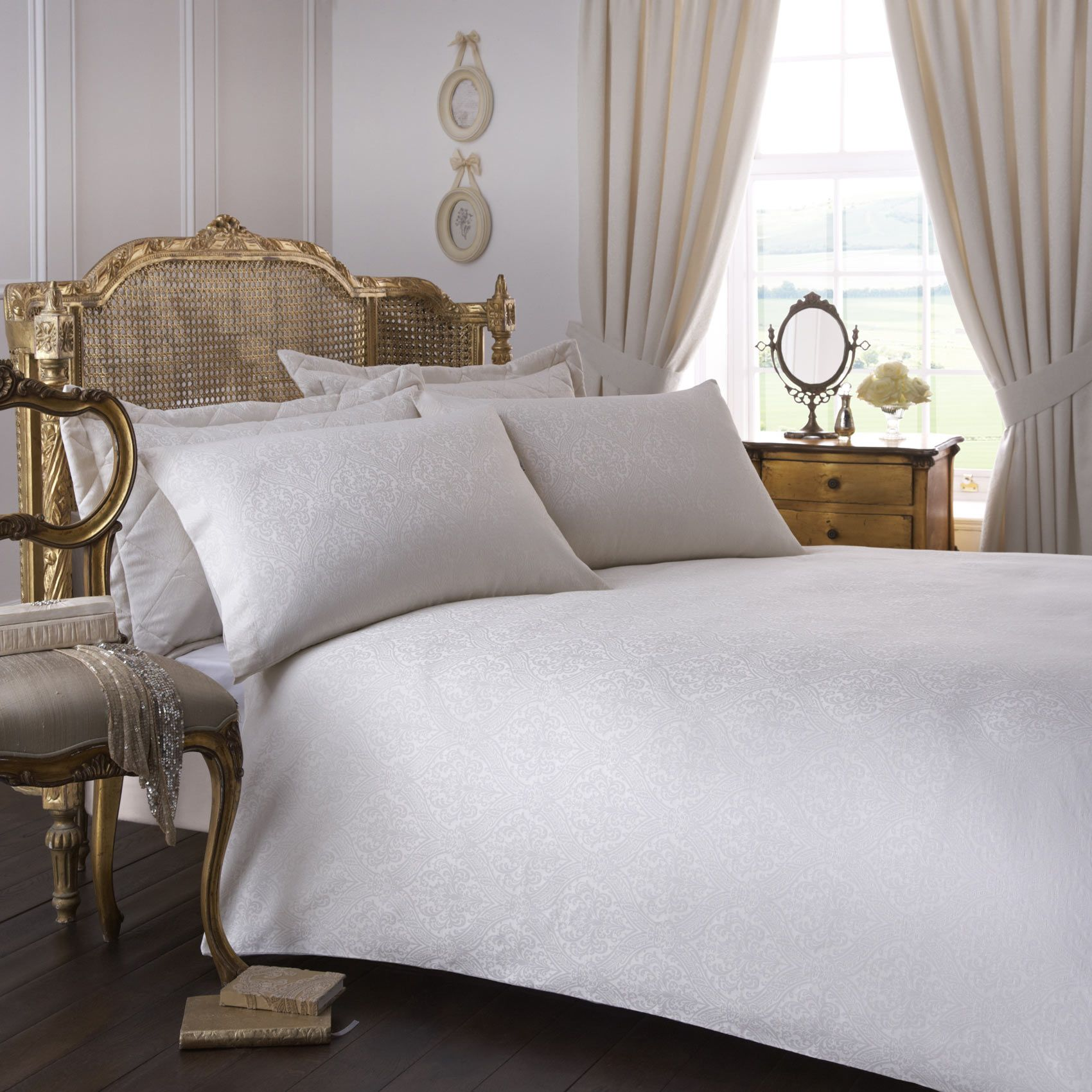 french duvet covers french inspired vantona renaissance damask duvet cover sets cream french style room setting with beautiful jacquard bedding in ivory cream and gold bed