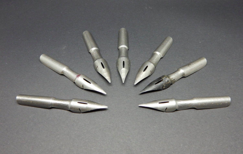 Vintage Dip Pen Nibs, vintage stationary. by bespokebydionne on Etsy