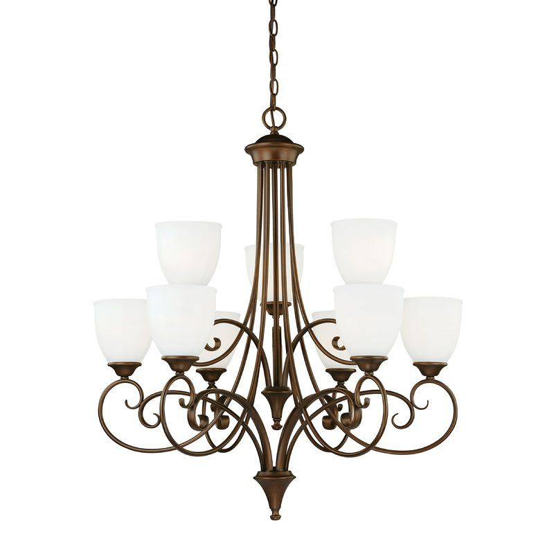 Youll love the claret 9 light shaded chandelier at wayfair great deals